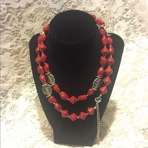 Deep red Premier Design necklace